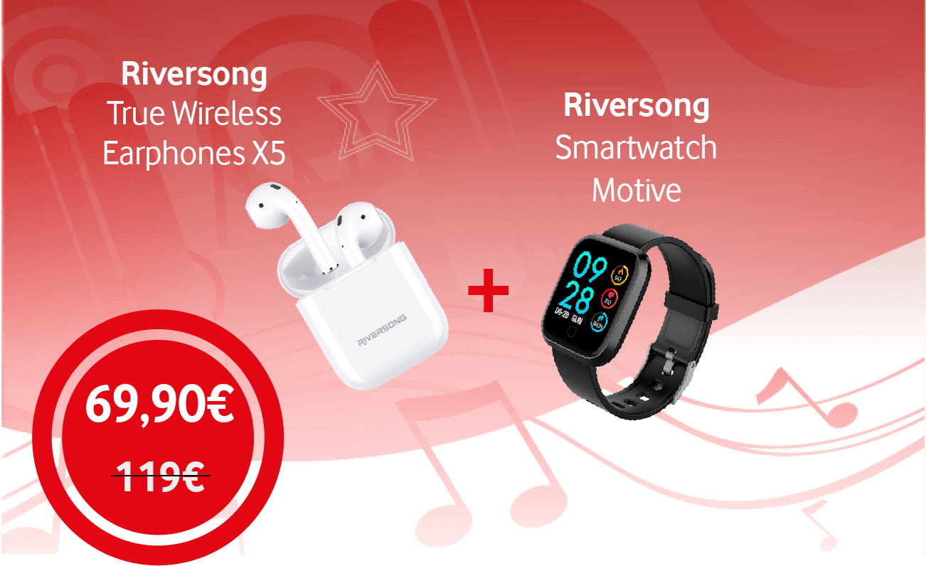 Riversong X5+ & Smartwatch Motive v3
