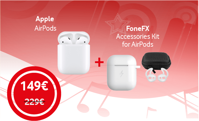 Apple AirPods  & FoneFX Accessories Kit v2