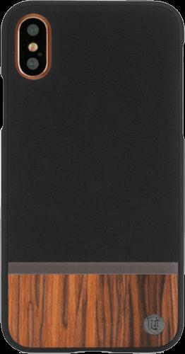 ΘΗΚΗ/Uunique/iPhone X/Wood/ΜΑΥΡΟ
