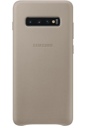 ΘΗΚΗ/Samsung/Leather view/S10+/ΓΚΡΙ