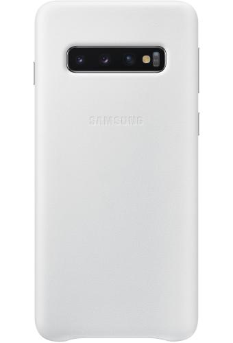 ΘΗΚΗ/Samsung/Leather view/S10/ΛΕΥΚΟ