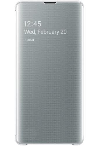 ΘΗΚΗ/Samsung/Clear view/S10+/ΛΕΥΚΟ