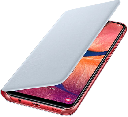 ΘΗΚΗ/Samsung/Flip wallet/A20/ΛΕΥΚΟ