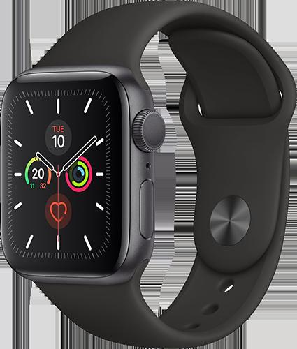 Apple Watch 5/Alu40mm/S.Gray/Black Sport