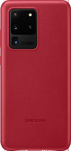 ΘΗΚΗ/Samsung/Leather/S20 ultra/ΚΟΚΚΙΝΟ