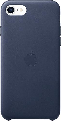 ΘΗΚΗ/iPhone SE new/Leather/ΣΚ.ΜΠΛΕ