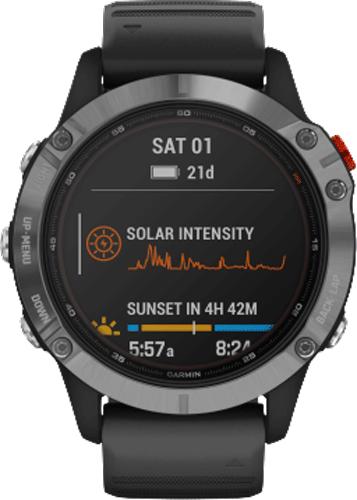 Smartwatch/Garmin/6/Solar/Silver