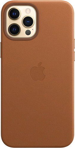 ΘΗΚΗ/iPhone12promax/Leather/ΚΑΦΕ